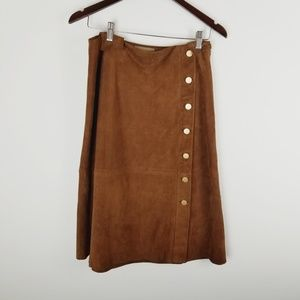 Talbots goat suede leather skirt size 4